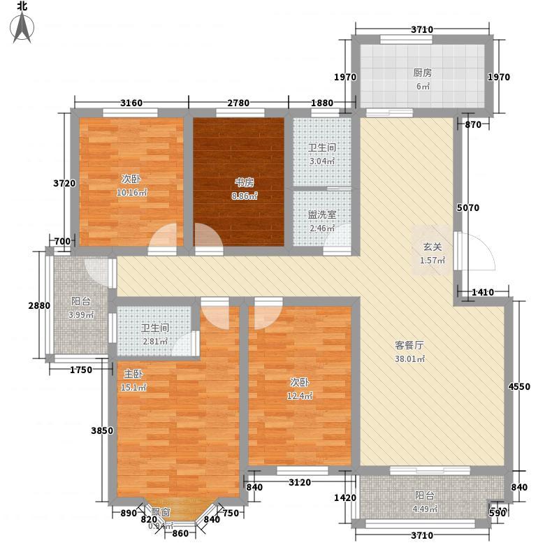 龙泊桂园户型4室