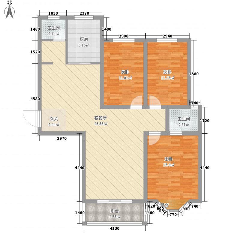 龙泊桂园户型3室