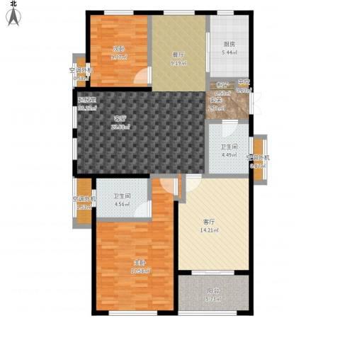 嘉利华府庄园2室1厅2卫1厨143.00㎡户型图
