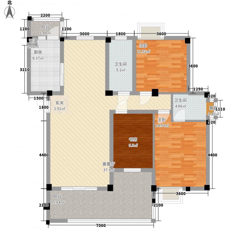 新安养生谷124.00㎡img012户型3室2厅2卫1厨