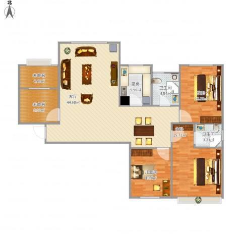 维多利亚广场3室1厅2卫1厨146.00㎡户型图