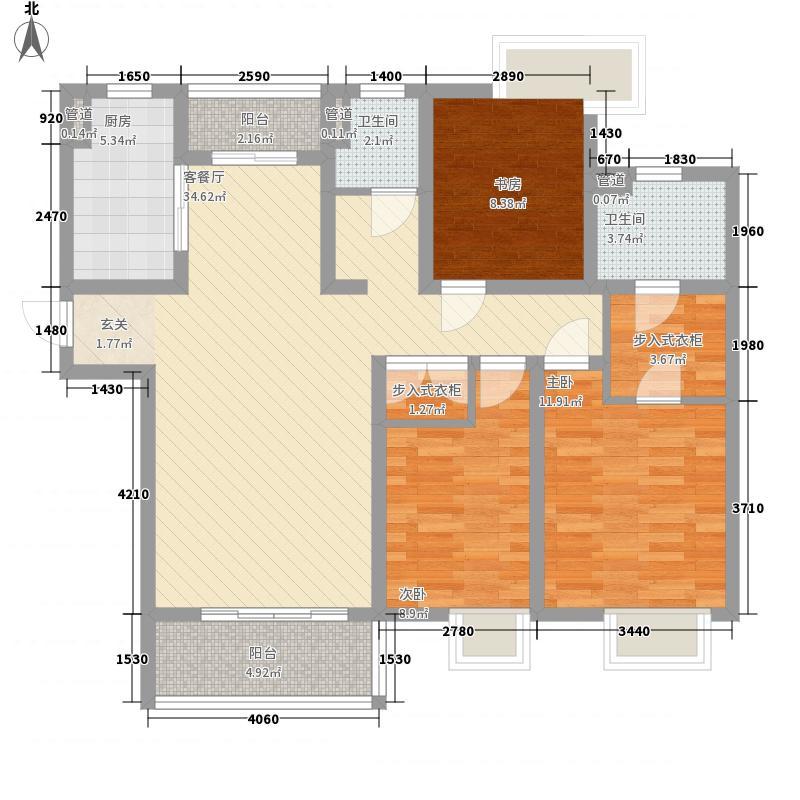 第五元素13.00㎡C5-2户型3室2厅2卫1厨