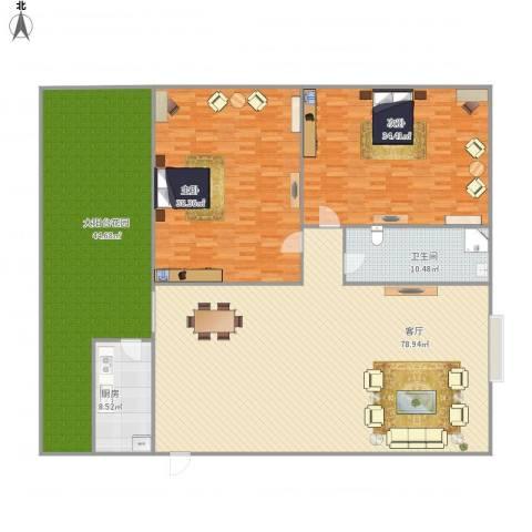 名苑小区nw979692室1厅1卫1厨281.00㎡户型图