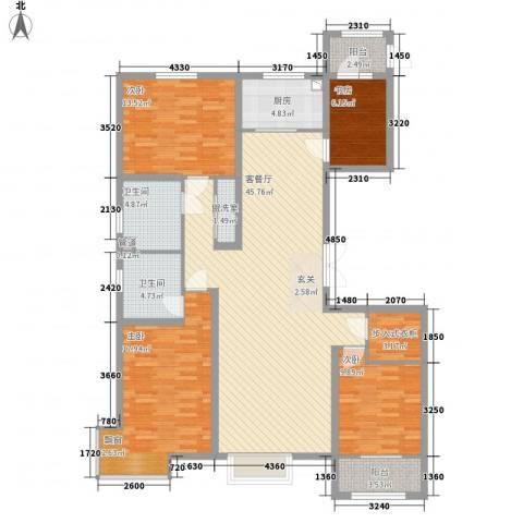 皇家壹里4室2厅2卫1厨169.00㎡户型图