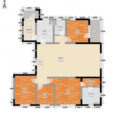 朗诗国际街区4室1厅2卫1厨142.94㎡户型图