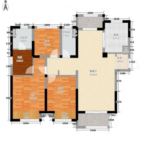 景瑞望府4室1厅2卫1厨139.00㎡户型图