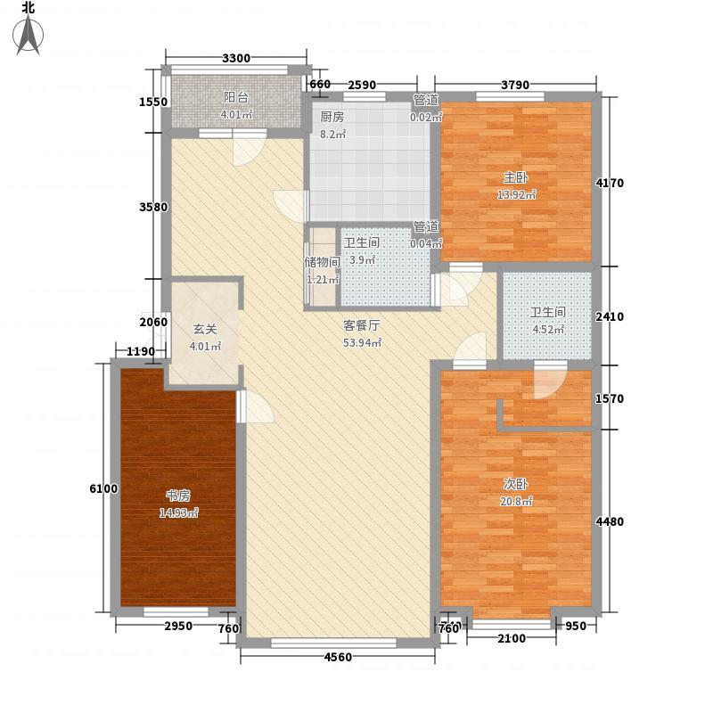 怡众名城156.33㎡怡众名城户型图m户型图3室2厅2卫户型3室2厅2卫
