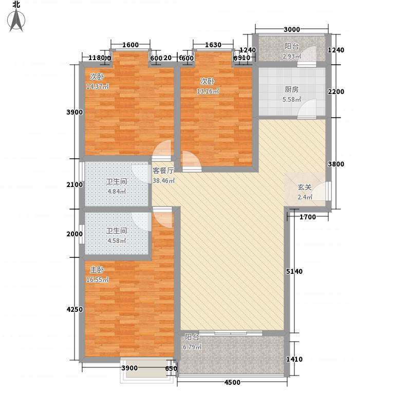 水漪润园13137.44㎡C1户型3室2厅2卫1厨