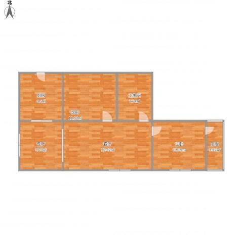 永丰巷2室2厅1卫1厨101.00㎡户型图