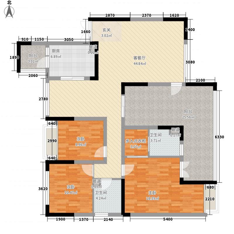 协信阿卡迪亚157.00㎡户型3室