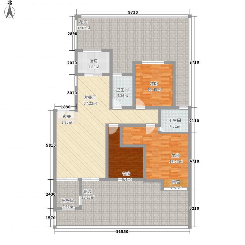 巨龙江山国际2期洋房12、13号楼标准层A-2户型