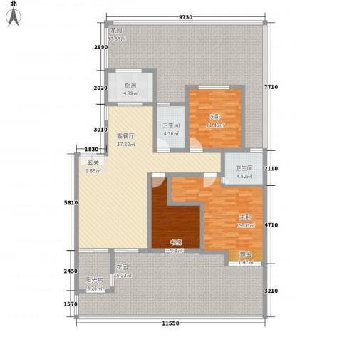 巨龙江山国际3室1厅2卫1厨238.00㎡户型图