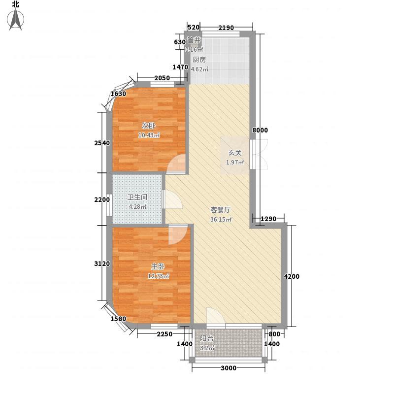 翰林壹品6.00㎡户型1室1厅1卫1厨