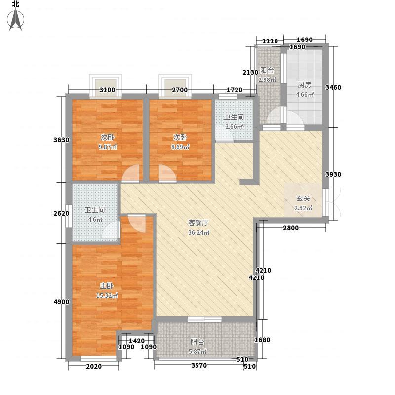江泰春岸632212.75㎡户型3室2厅2卫