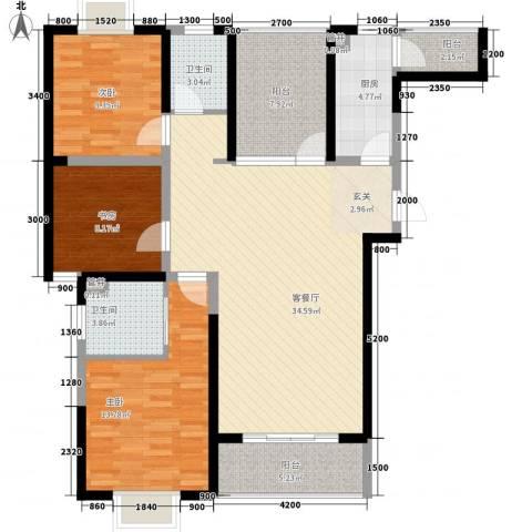 腾瑞・幸福里3室1厅2卫1厨4125.00㎡户型图