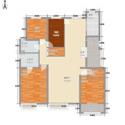 皇家壹里4室1厅2卫1厨186.00㎡户型图