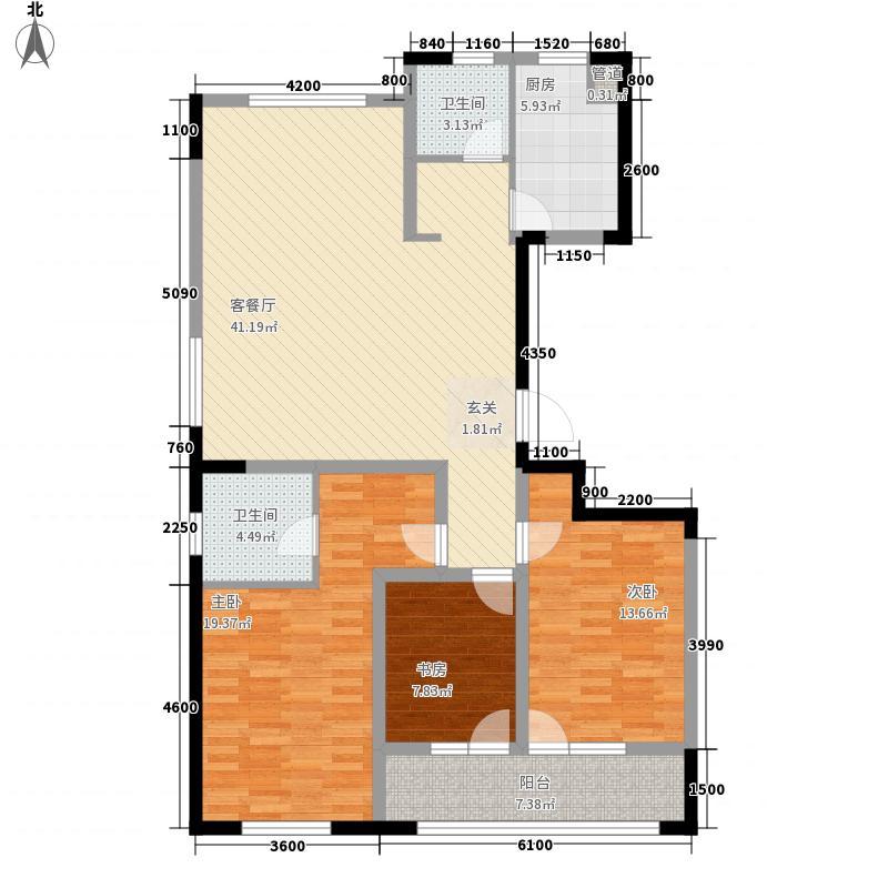 朗诗国际街区133.00㎡C5+户型3室2厅2卫1厨