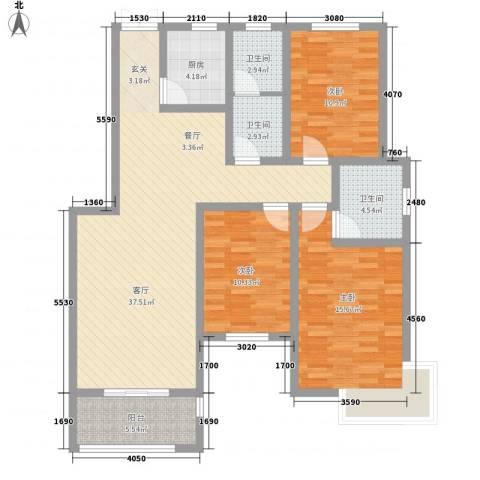新城国际3室1厅3卫1厨137.00㎡户型图