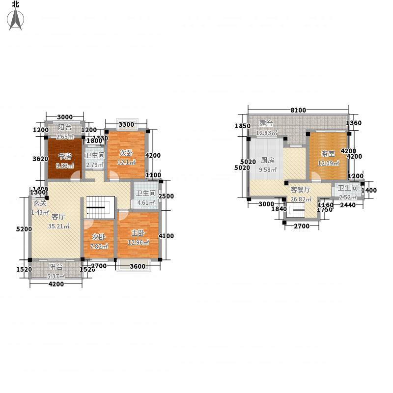 联达山与城161.66㎡复式户型4室3厅2卫1厨