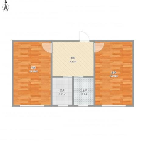 日晖六村1072室1厅1卫1厨65.00㎡户型图