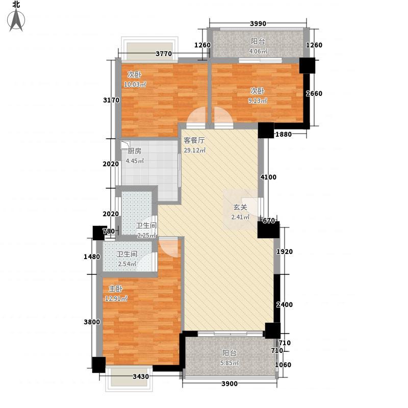 华友第一城123116.20㎡1#02、03户型3室2厅2卫1厨