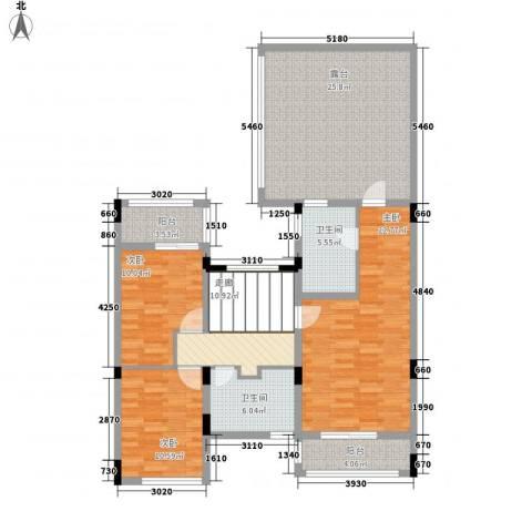 万科棠樾3室0厅2卫0厨141.00㎡户型图