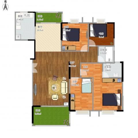 贝迪豪庭4室1厅2卫1厨143.00㎡户型图