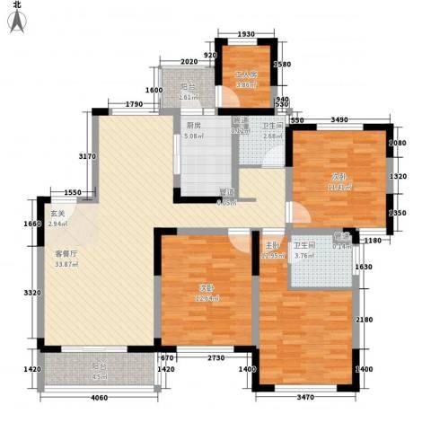 古北新城酩悦1663室1厅2卫1厨137.00㎡户型图