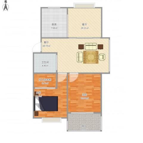 兴越小区2室2厅1卫1厨103.00㎡户型图