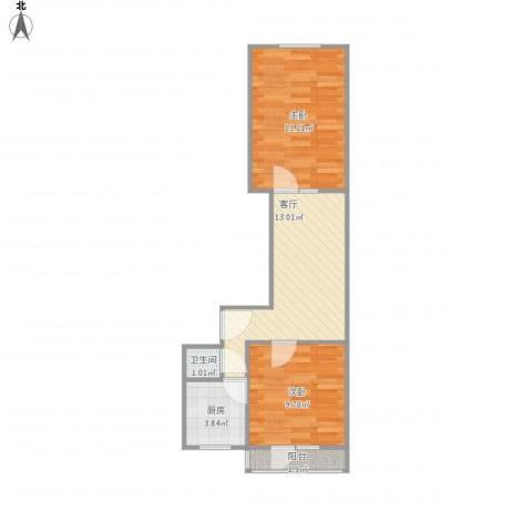 风采里2室1厅1卫1厨59.00㎡户型图