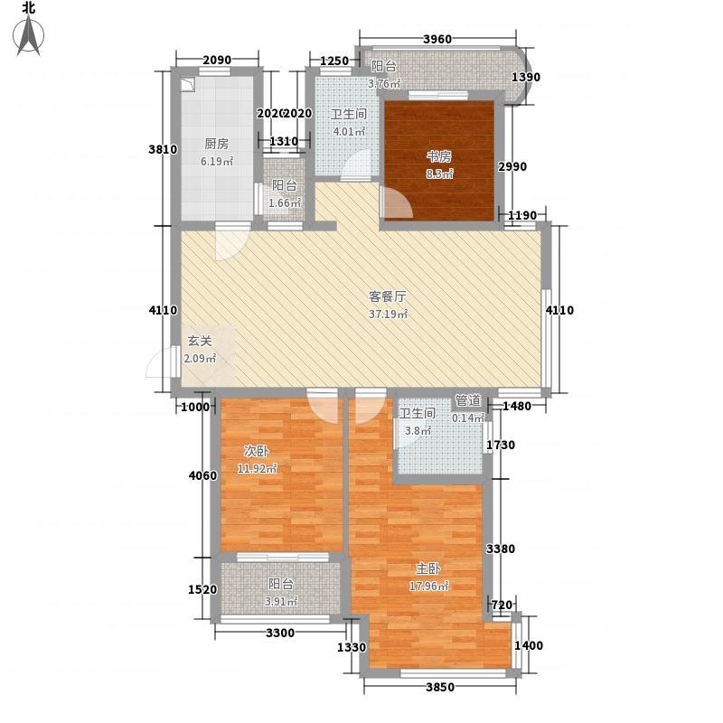 新港名仕花园142.00㎡户型3室