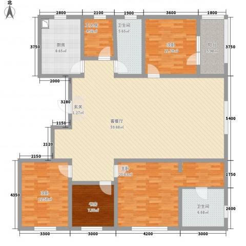 朗诗国际街区4室1厅2卫1厨188.00㎡户型图