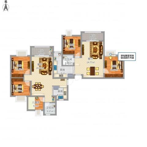 琥珀新天地5室2厅2卫2厨183.00㎡户型图