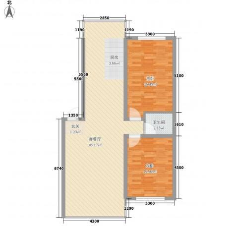 城基绿色家园2室1厅1卫0厨75.72㎡户型图