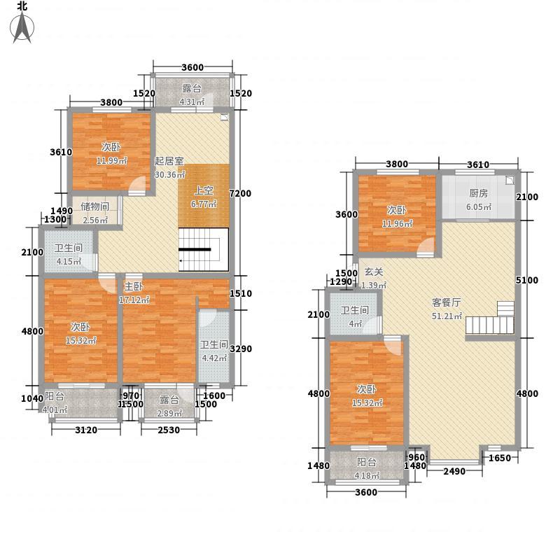利源帝景227.10㎡-户型5室2厅3卫1厨