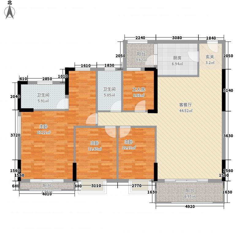 信德上城155.00㎡户型4室