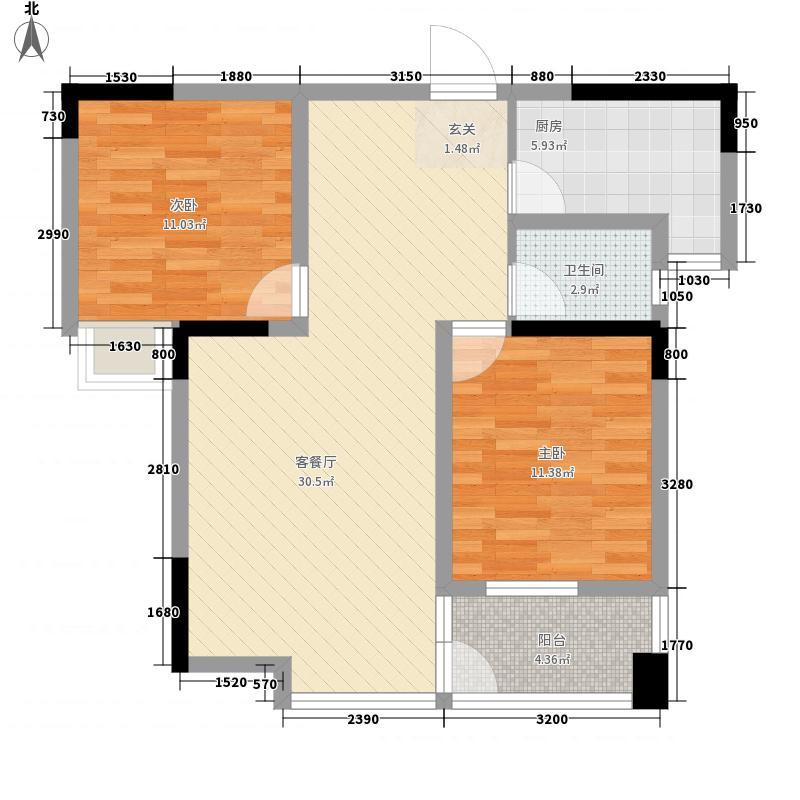 公园道1号户型2室