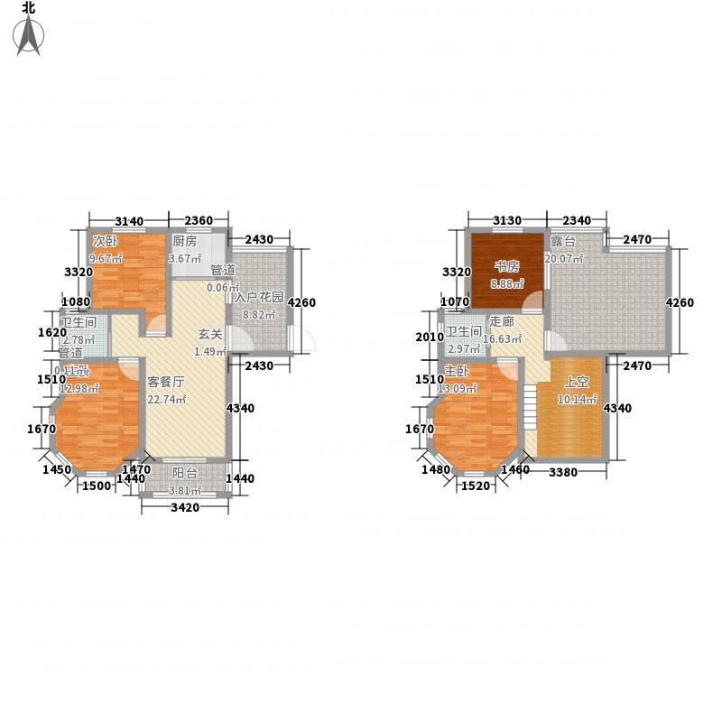 中冶・滨江国际城168.00㎡F6户型4室2厅2卫