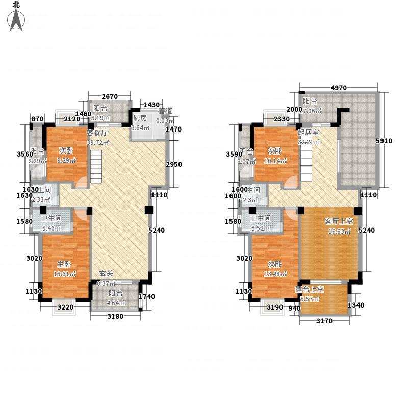 山水钟潭雅居228.22㎡2#楼西复式户型4室2厅4卫1厨