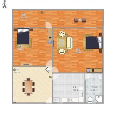 豆腐巷2室1厅1卫1厨172.00㎡户型图