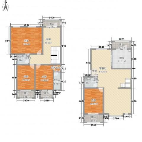 利源帝景4室1厅3卫1厨264.00㎡户型图