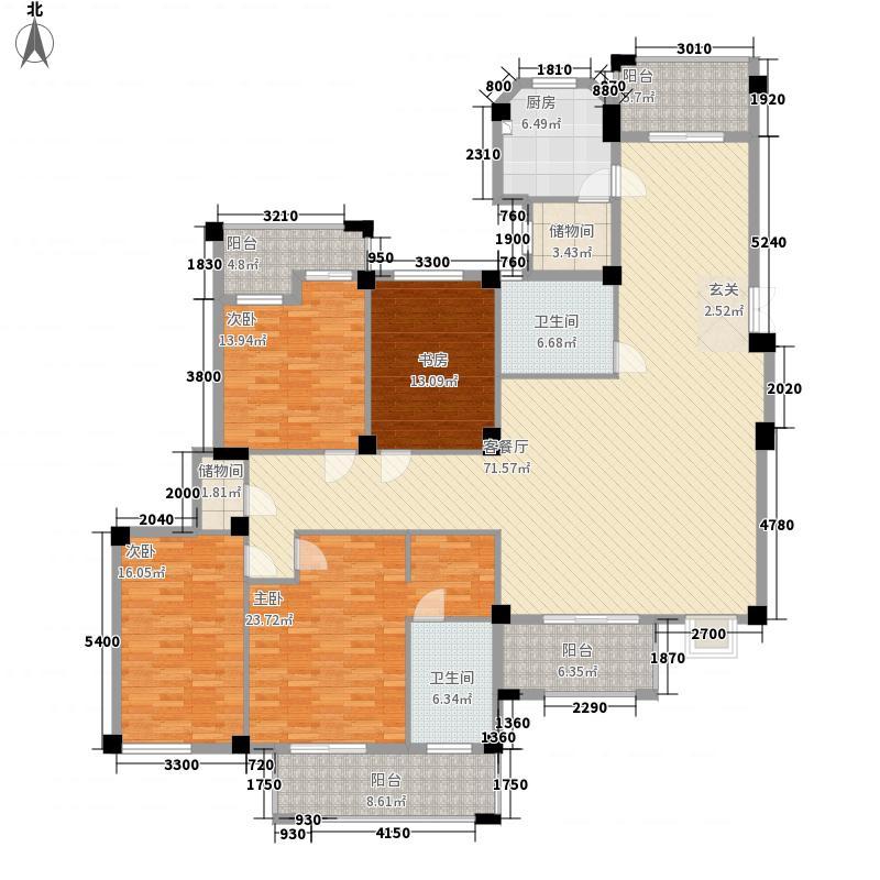 东源北院223.00㎡4#楼D户型4室2厅2卫1厨