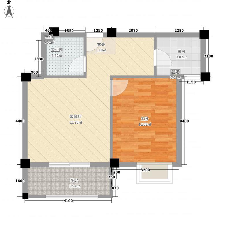 东源北院6.00㎡B户型1室1厅1卫1厨