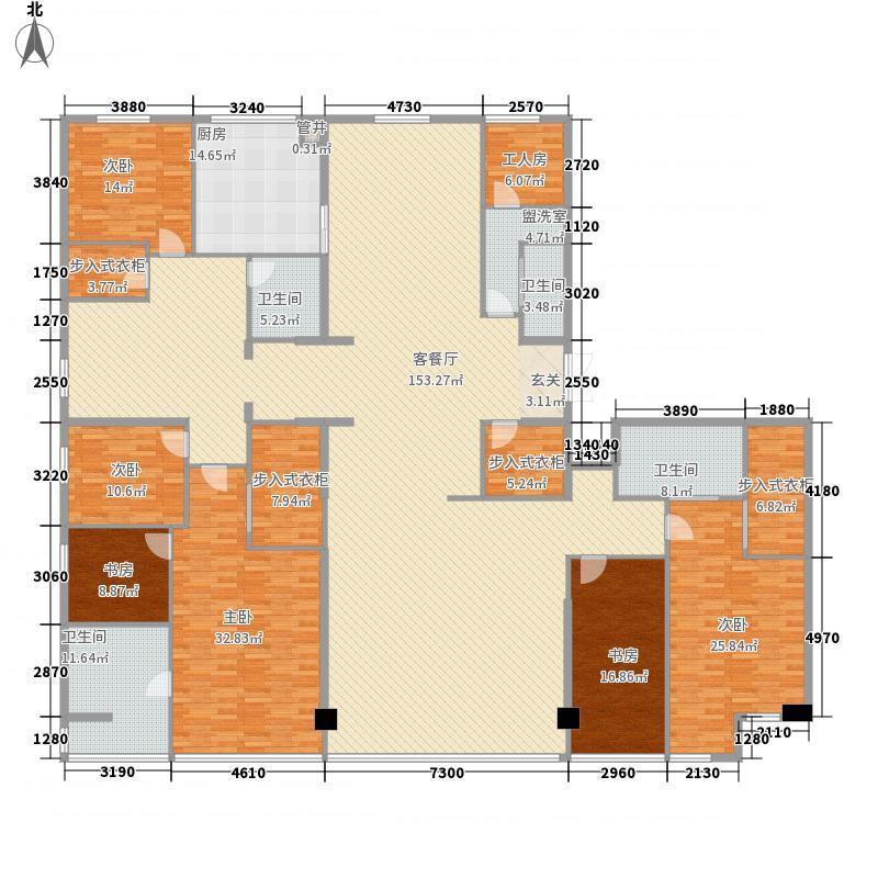 沿海国际中心47.00㎡1号楼A户型4室3厅4卫1厨