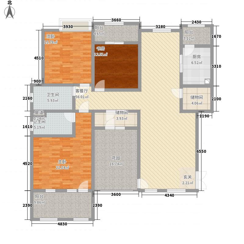 滨江壹号15.87㎡户型3室2厅2卫