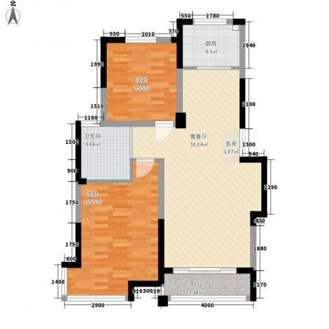 渤海之星2室1厅1卫1厨99.00㎡户型图