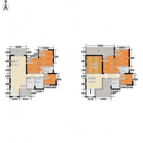 东方家园6室1厅4卫1厨238.00㎡户型图