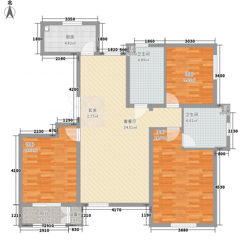 盛秦国际8号楼、9号楼J户型