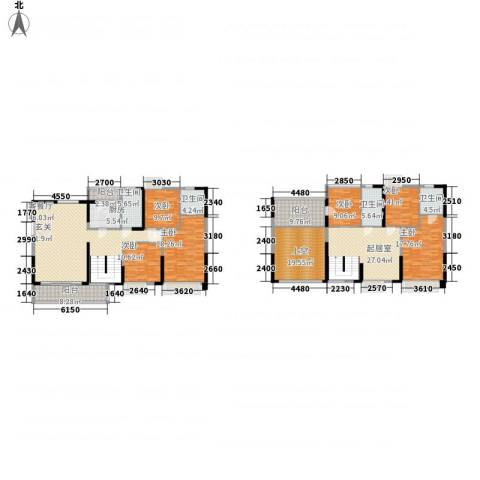 东方家园6室1厅4卫1厨241.00㎡户型图