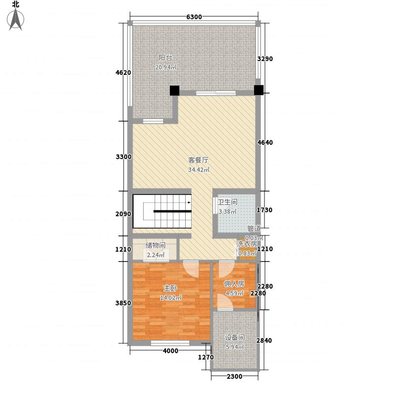 合生・天戴河276.00㎡b6-1户型4室4厅5卫1厨